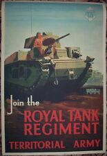 WW2 British Royal Tank Regiment Army propaganda poster