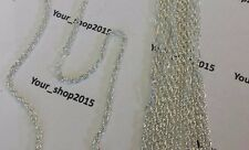 Wholesale Joblot 10 x Silver Plated Chain Necklace Costume Jewellery 20""