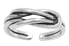 New Sterling Silver Bali Lovers Knot Adjustable Toe Ring