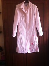Warehouse Pink Summer Sequin Embroided Embellished Beaded Linen Coat Size 10