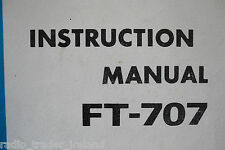 YAESU FT-707 (GENUINE INSTRUCTION MANUAL ONLY)...........RADIO_TRADER_IRELAND.