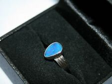 LOT 329 STUNNING BOULDER OPAL SOLID STERLING SILVER RING - SIZE J