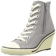 CONVERSE All Star AS WEDGE Z HI High Heel Sneakers Women Zipper Shoes Gray 5 New