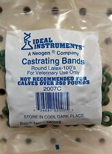 Elastrator Castrating Docking 100ct Bands Rings Calf Goat Sheep Lambs Pigs
