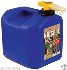 No-Spill 1456   5-Gallon Poly KEROSENE Can (CARB Compliant) BLUE NEW!!