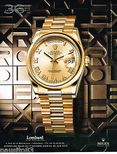 PUBLICITE ADVERTISING 065  2010  ROLEX  collection OYSTER PERPETUAL DAY-DATE