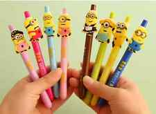 Hot 8pcs Despicable Me Minions Figure Ballpoint Pen Stationery Toy Kid Gifts