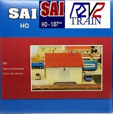 SAI HO Halle de marchandise avec quai type Dépôt SNCF)123 NEUF BO