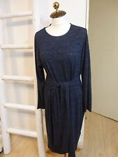 BNWT M&S stretch jersey navy marl belted dress size 18 RRP £35