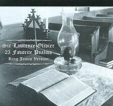 Laurence Olivier - 23 Favorite Psalms King James Version (Liquid 8) CD NEW