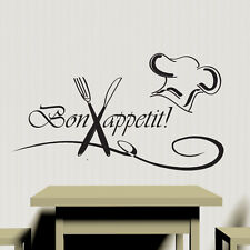 Bon Appetite Kitchen Wall Sticker Vinyl Decal Art Restaurant Pub Decor Cook