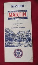 1964 Missouri road  map Martin gas oil route 66