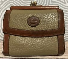 DOONEY AND BOURKE Vintage Small Pebbled Leather French Kisslock Change Wallet