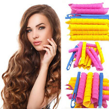 18Pcs Magic Hair Curlers Tool Curl Shaping Spiral Ringlet Leverag rollers 40CM