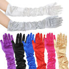 Lady's Long Satin Burlesque Clubwear Prom Evening Fancy Dress Wedding Gloves New