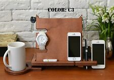 Iphone 6 charger station phone dock apple watch stand wooden iphone stand