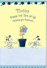 Disney Classic Mickey and Minnie Happy Birthday Mother Hallmark Greeting Card