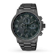 Citizen NightHawk EcoDrive Chronograph Black Ion-plated Mens Watch CA0295-58E