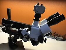 XTS Trinocular Stereo Zoom Microscope on Flexible Arm Stand w/ DSP Camera