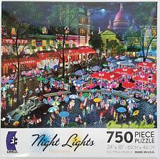 CEACO® 750pc NIGHT LIGHTS • A NIGHT IN MONTMARTRE • PUZZLES Jig Saw USA MADE
