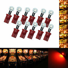 10x #555 T10 1 SMD LED Folded Pinball Machine Light Bulb Red AC/ DC 6.3V