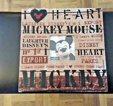 DISNEY MICKEY MOUSE LETTER PRESS FRAME RARE 12X12 NEW IN BOX AUTHENTIC