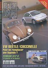 RETROVISEUR n°123 11/1998 VW BEETLE/COCCINELLE FERRARI 512S DAF 55/66 ALFASPIDER