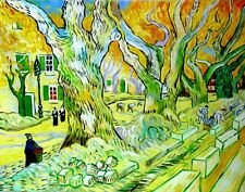 "Van Gogh Replica Oil Painting - The Road Menders - size 48""x36"""