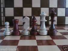 BRAND NEW♚  WEIGHTED STAUNTON  No 6 WOODEN CHESS  PIECES ♞