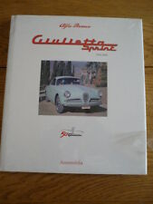 ALFA ROMEO GIULIETTA SPRINT 1954 TO 2004 Car Book  jm