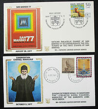 Vatican limited edition series set of 2 Illustrated Covers vaticano cartas h-8434