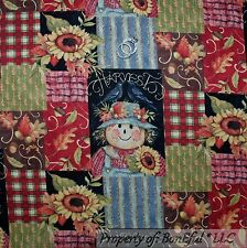 BonEful Fabric Cotton Quilt Red Stripe Country Cottage Patchwork L FQ SALE SCRAP