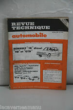 REVUE TECHNIQUE AUTOMOBILE de 1981 RENAULT 18 TD/GTD diesel N° 415