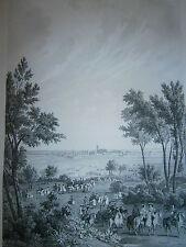 Gravure 19° guerre de Louis XIV siége de Naerden 1672 pays bas