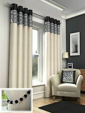 SKYE & GENEVA & LILY LINED EYELET CURTAINS & PANELS & BEDDING SET-SOLD SEPARATE