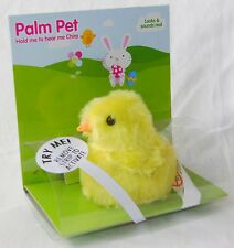 NEW FLUFFY YELLOW CHICK PALM PET CHIRPS WHEN YOU HOLD IT! PMS BUY 6 GET 1 FREE