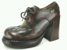 EL DANTES platform shoes boots brown leather oxfords size 36/37 US 7 M RARE