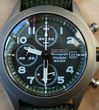 NEW IN BOX Seiko titanium military chronograph SNA141P1 SNA141 RAF style 7T62
