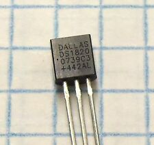 DS1820 (2 pcs) High-Precision 1-Wire Digital Thermometer Sensor TO-92 * Lot of 2