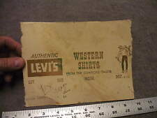 Authentic Levi's  Western Shirts From the Cowboy's Tailor Box End Flap , 1960s