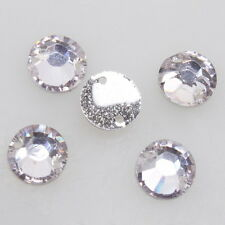 150pcs Wholesale Crystal Lilac Sew-on Resin Flatback Beads Buttons Craft DIY 8mm