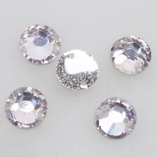 150pcs Crystal Lilac Sew-on Resin Flatback Beads Buttons Findings New 8mm - DD