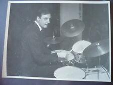 PHOTO ORIGINALE 1950 MUSICIEN JAZZ batteur français CHRISTIAN GARROS ( 1920 - 1