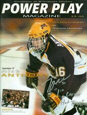 2002 Minnesota vs Alabama-Huntsville Mens Hockey Program: Troy Riddle Autograph