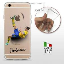 iPhone 6S/6 COVER PROTETTIVA GEL TRASPARENTE Calcio Soccer Football Ibrahimovic