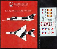 TD72011/ TigerHead Decals - MiG-21 - Early Fishbeds - 1/72 - TOPP
