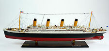"RMS Titanic White Star Line Cruise Ship 40"" - Museum Quality Wooden Ship Model"