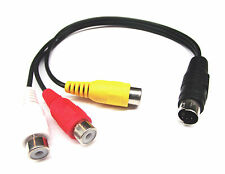 From OZ Quality 1PC 4Pin S-Video Male To 3 RCA Female Cable Lead Audio Video +FP