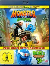 3D-Blu-ray MONSTER UND ALIENS v..d. Machern v. Shrek+Madagascar Mit 2 3D-Brillen