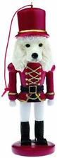 White Poodle Soldier Dog Nutcracker Ornament Holiday Christmas Tree Decoration